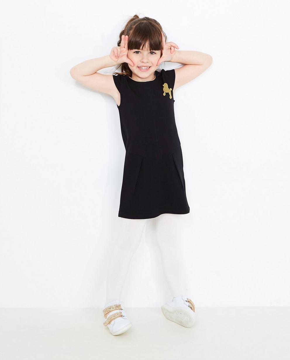 Schwarzes Kleid - mit Brosche - JBC